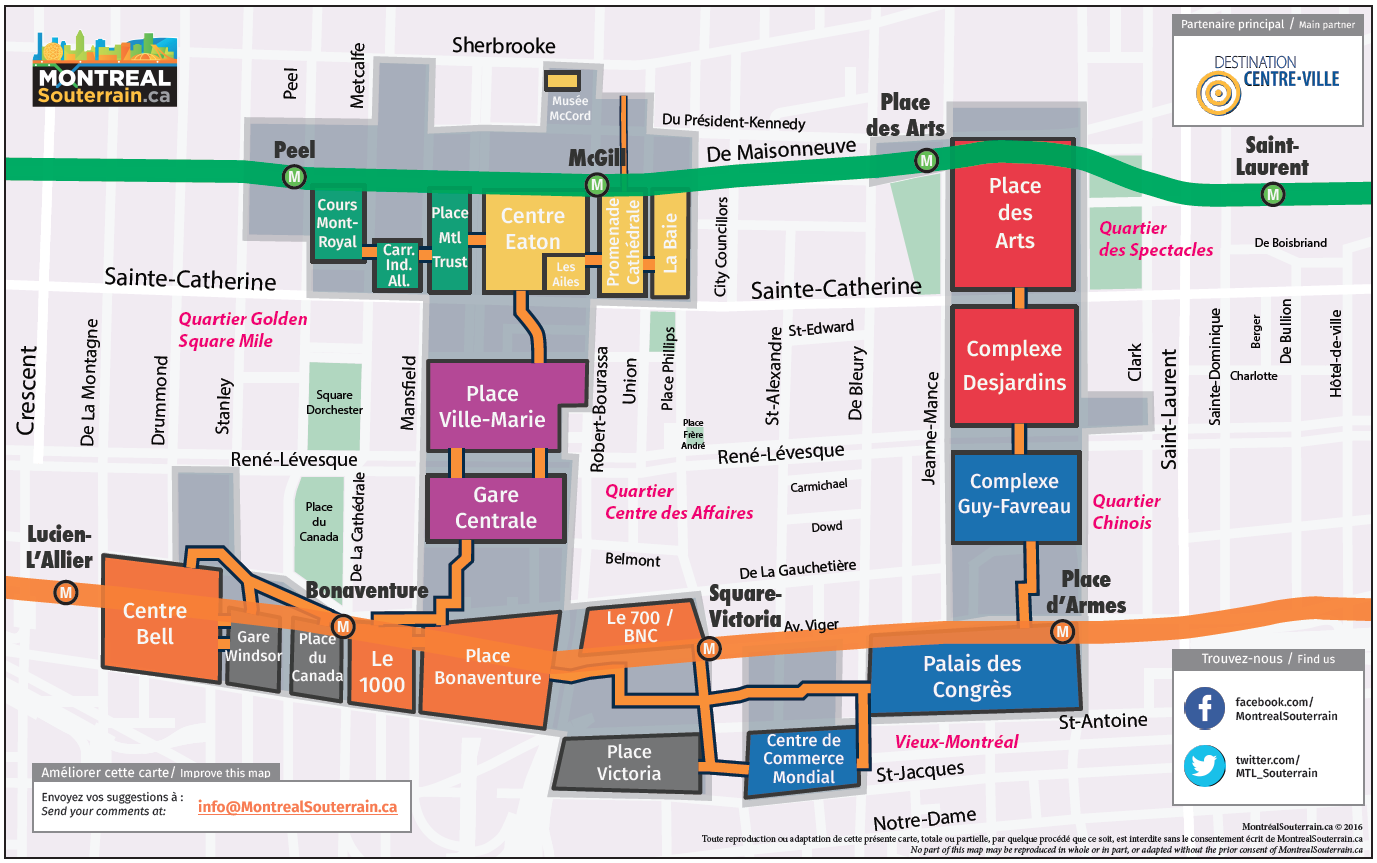 Montreal Underground City Map
