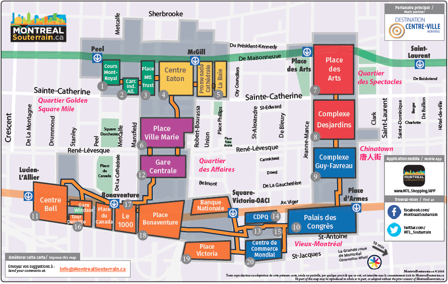 Underground Montreal City Map